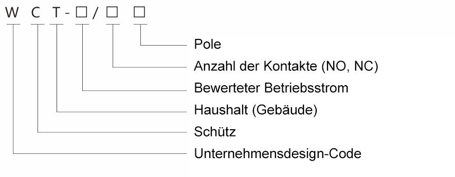 WCT modularer Haushalts-AC-Schütz - Construction contactor rail ...
